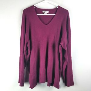 Coldwater Creek Plus Size 3X Top Ribbed Sweater